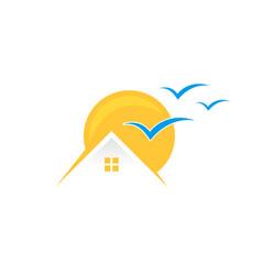home sun vector image