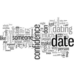 How to impress your date with confidence vector
