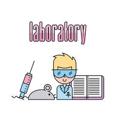 Laboratory scientific examinations vector