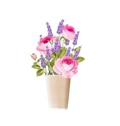 Lavender sign label vector image