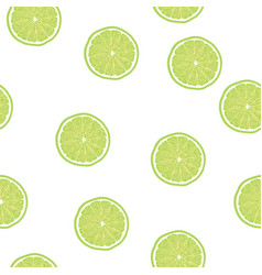 Lime slice pattern seamless vector
