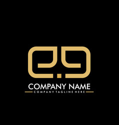 Logotype letter e a luxury and elegant company vector