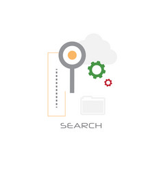 magnifying glass database folder data search vector image