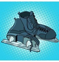 Men skates winter sports vector image