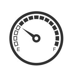 meter icon power and measurement energy scale vector image