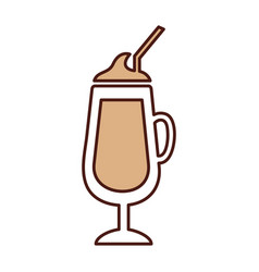 milkshake cup isolated icon vector image