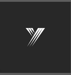 modern letter y monogram initial logo minimal vector image