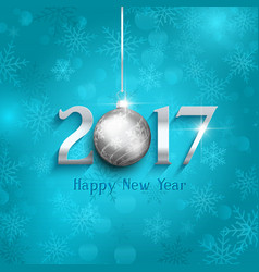 new year bauble background 1610 vector image
