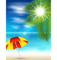 Nice beach vector image