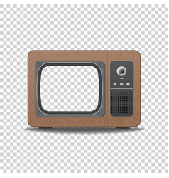 old style tv vector image