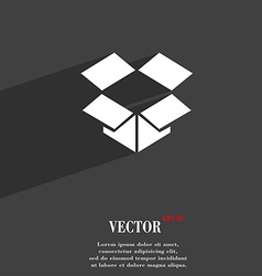 Open box icon symbol Flat modern web design with vector