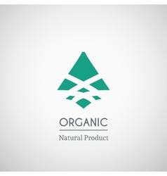 Organic natural product logo vector image
