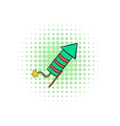 Party popper comics icon vector