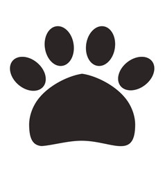 paw print pet icon vector image