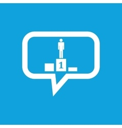 Pedestal message icon vector