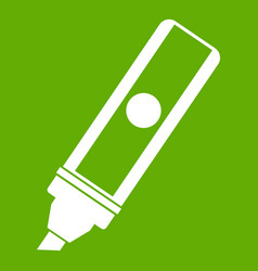 permanent marker icon green vector image