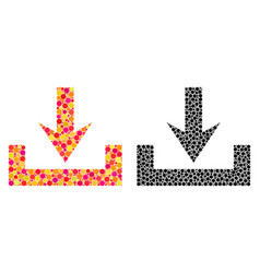 Pixel downloads mosaic icons vector