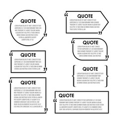 quote box frame big set texting boxes blank vector image