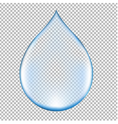 Realistic blue water drop vector