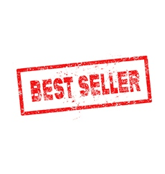 red best seller rubber stamp vector image