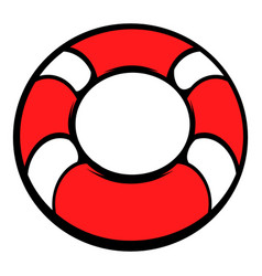 red lifebuoy icon icon cartoon vector image