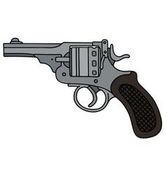 retro short revolver vector image
