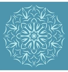 Round flower pattern on blue background vector