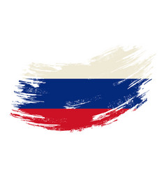 Russian flag grunge brush background vector