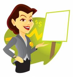sales woman vector image