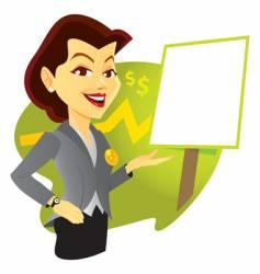Sales woman vector