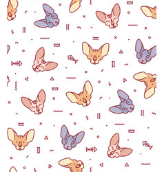 Seamless pattern with cats for fabric vector