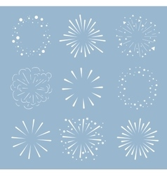 Set of sparkles and bursts minimal design vector