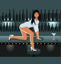 sexy girl in night club vector image