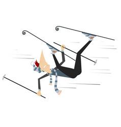 Skier man isolated vector