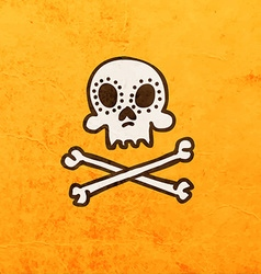 Skull and Bones Cartoon vector