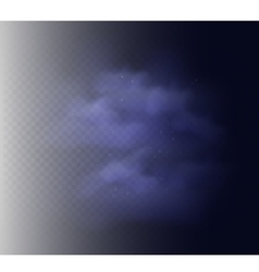 Smoke texture for black backgrounds vector image