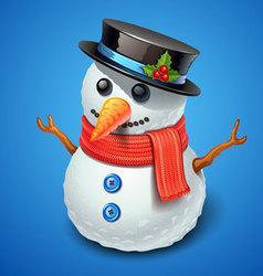 snowman icon vector image