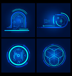 technology design element vector image