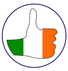 Thumbs up eire vector