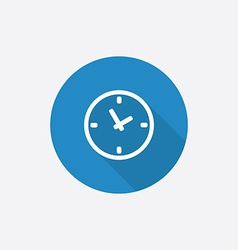 Time Flat Blue Simple Icon with long shadow vector
