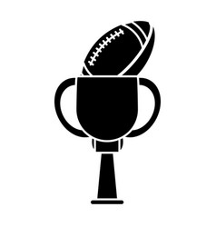 Trophy football sport pictogram vector
