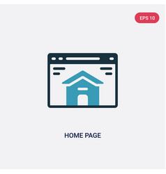 Two color home page icon from seo web concept vector