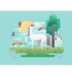 Unicorn Animal in Nature vector image