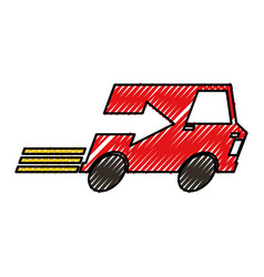 Van with arrow delivery service icon vector