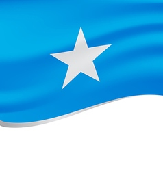 Waving flag of Somalia isolated on white vector