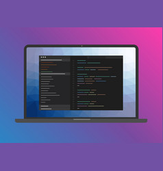 web development programming and coding software vector image