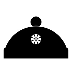 Winter hat icon simple style vector