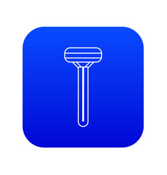 woman razor icon blue vector image