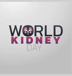 world kidney day icon design medical logo vector image