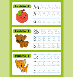 Writing letters tracing page practice sheet vector